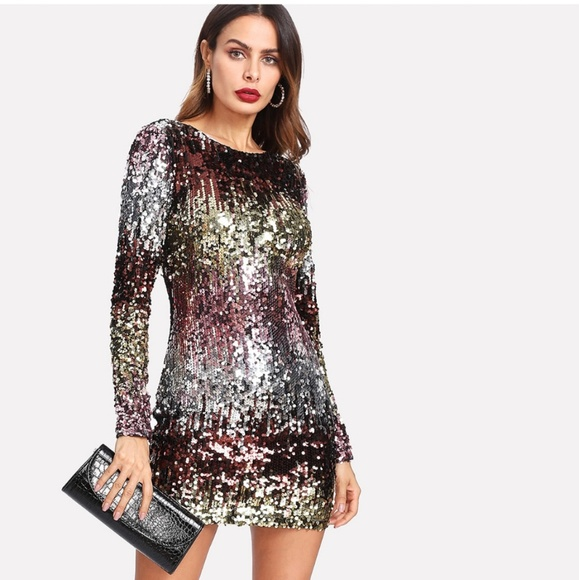 1a5eb226 Bodycon Dresses | Nwt Iridescent Sequin Dress In 2 Color Choices ...